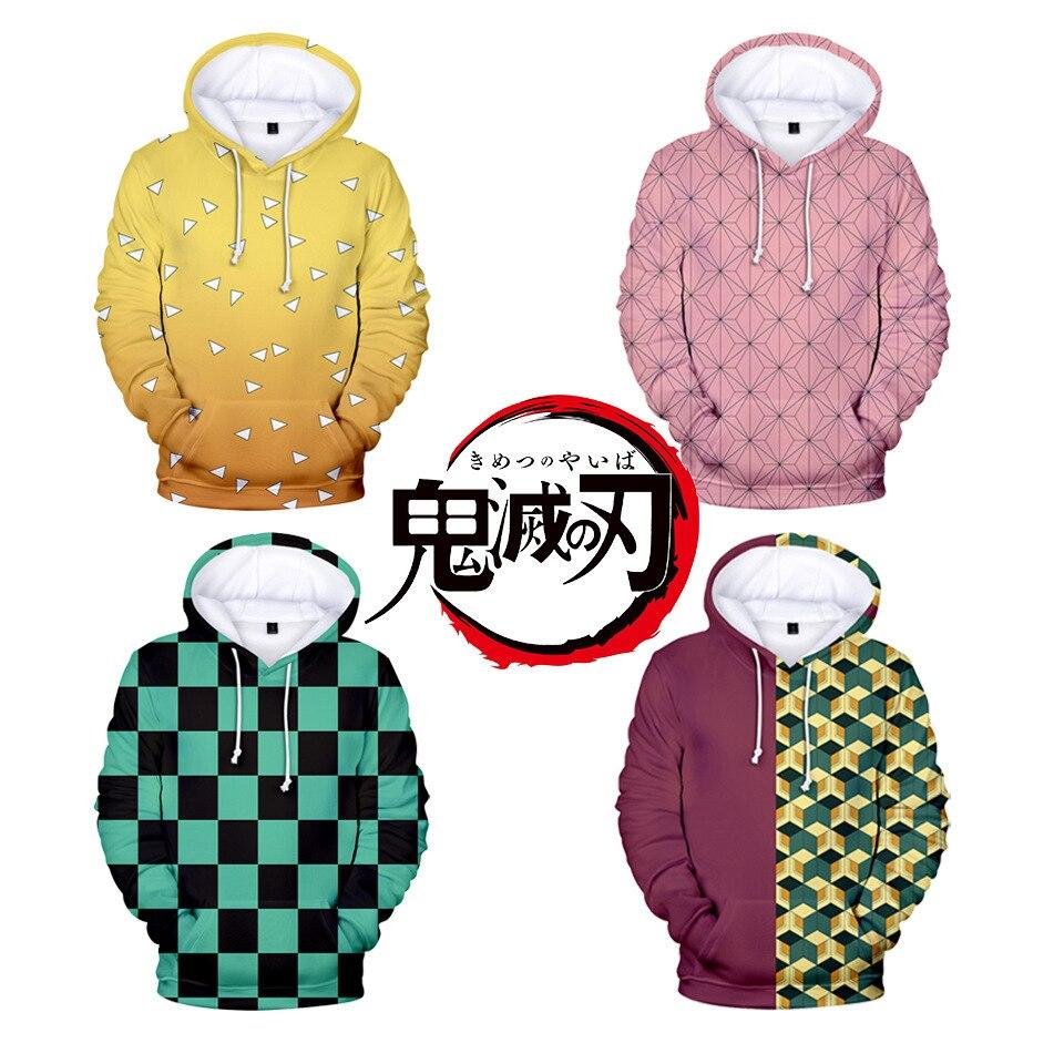 Harajuku 3D Cool Arrival Demon Slayer Kimetsu no Yaiba hooded Sweatshirt Fashion Trend Style 3D Cool Women/men Winter Hoodies
