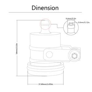 Image 5 - universal MOTORCYCLE CNC bkbat brake fluid reservoir clutch cylinder tank oil fluid cup OIL CUP FOR SUZUKI Hayabusa GSX 250R