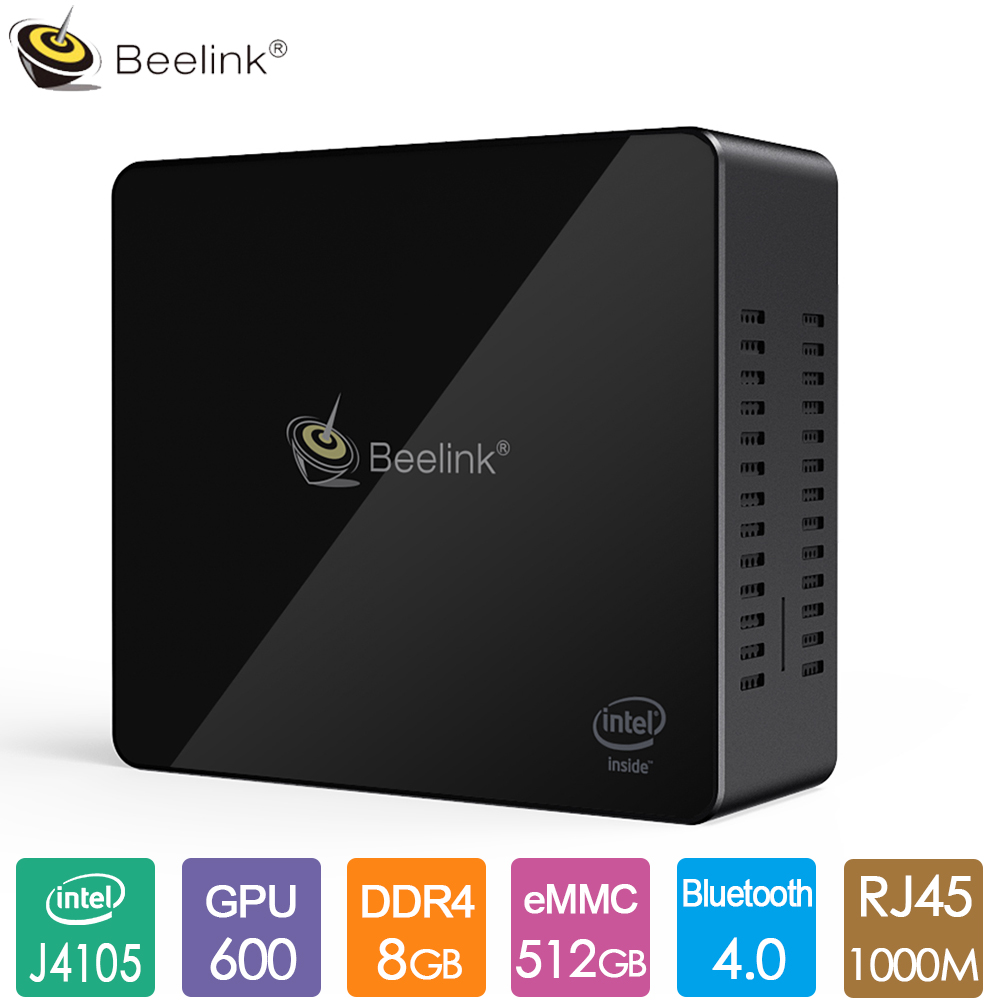 Beelink Gemini X45 Mini PC Intel GEMINI LAKE Celeron Processor J4105 8GB LPDDR4 128G 256G 512G Up To 2.5GHz BT4.0 1000M LAN WiFi