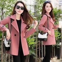 Новое зимнее пальто большого размера женское зимнее длинное тонкое шерстяное пальто женское Модный брендовый дизайн горячая распродажа