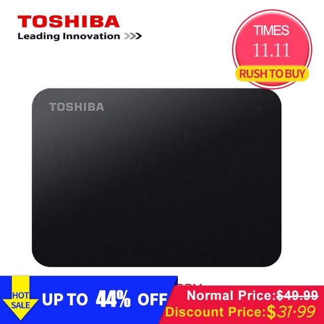 Toshiba disque dur externe HDD de 500 pouces, USB 2.5, 3.0 RPM, pour ordinateur portable, avec capacité de 5400 go, 1 to, Original