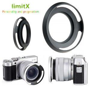 Image 1 - 52mm Ventilé En Métal Pare soleil pour Fujifilm X T100 X T30 X A20 X A7 X A5 XA20 XA7 XA5 XT30 XT100 Caméra avec 15 45mm