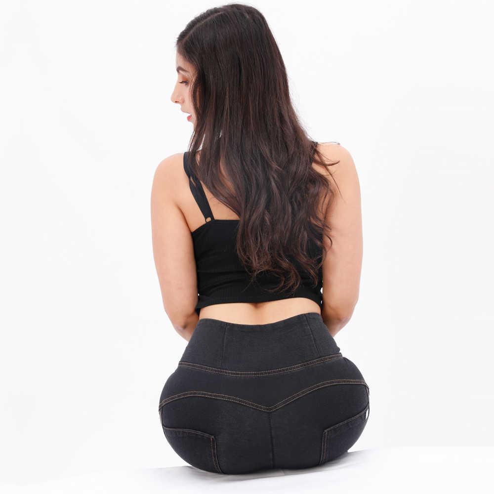 Quatre façons étirable marque Sexy cul Push Up Denim Jeans 3 couleurs XXXL grande taille taille haute veste pour homme Jeans femme