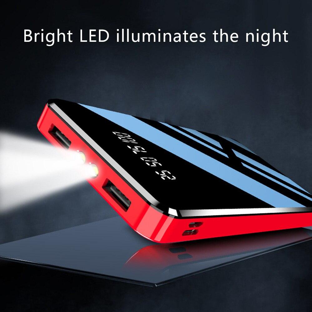 FLOVEME внешний аккумулятор 20000 мАч двойной USB светодиодный светильник 10000 мАч Внешний аккумулятор портативное Внешнее зарядное устройство пов...
