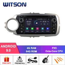 Witson android 9.0 ips tela hd para toyota yaris 2012 gps carro dvd rádio 4 gb ram + 64 gb flash 8 octa núcleo + dvr/wifi dsp + dab + obd(China)