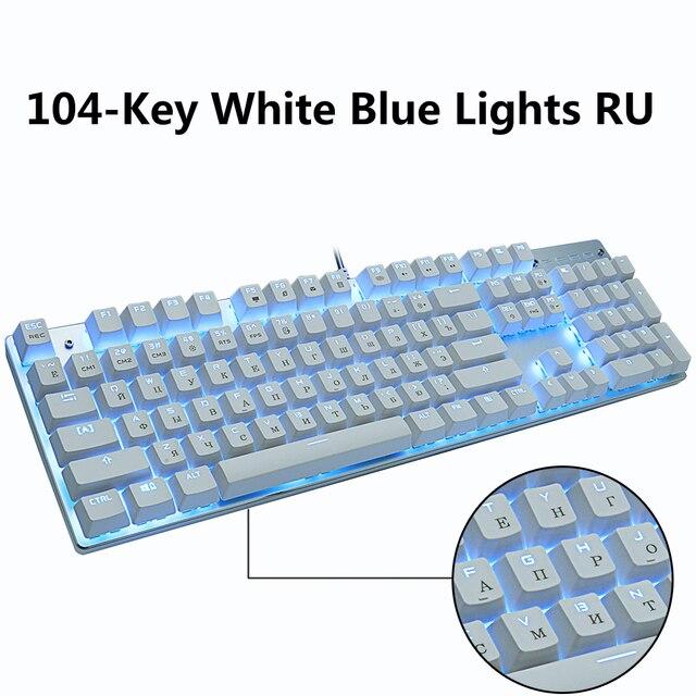 Tastiera meccanica da gioco Metoo gioco Anti-ghosting russo/US blu nero rosso interruttore tastiera cablata retroilluminata per giocatori professionisti 2