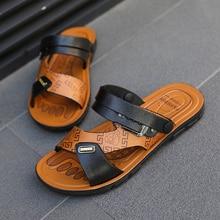 Summer Sandals Men Slippers Outdoor Beach Walking Shoes For Men Ankle-Wrap Comfortable Lightweight Crocs Shoes Ciabatte Spiaggia вьетнамки crocs