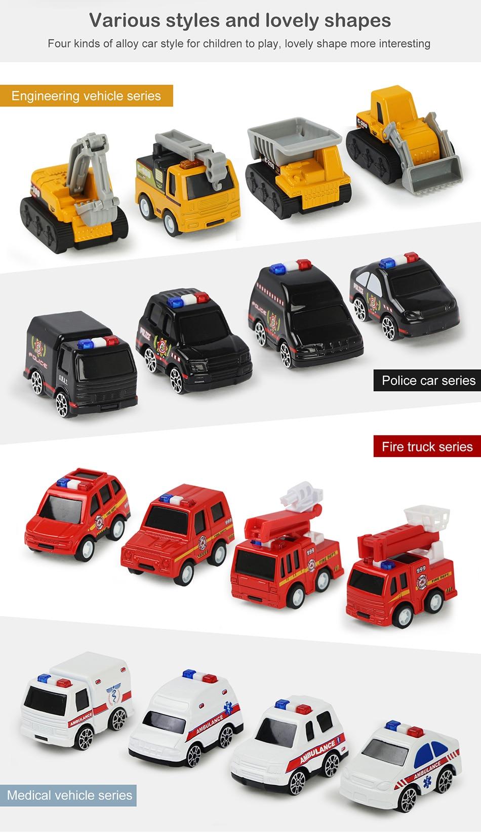 Brinquedo de carrinho para crianças 4 estilos,