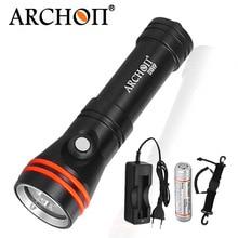 Фотовспышка карманный фонарик для дайвинга ARCHON D15VP 100M для дайвинга, видеосъемки, белая, красная светодиодная лампа, 1300 люмен, подводная лампа, аккумулятор 18650