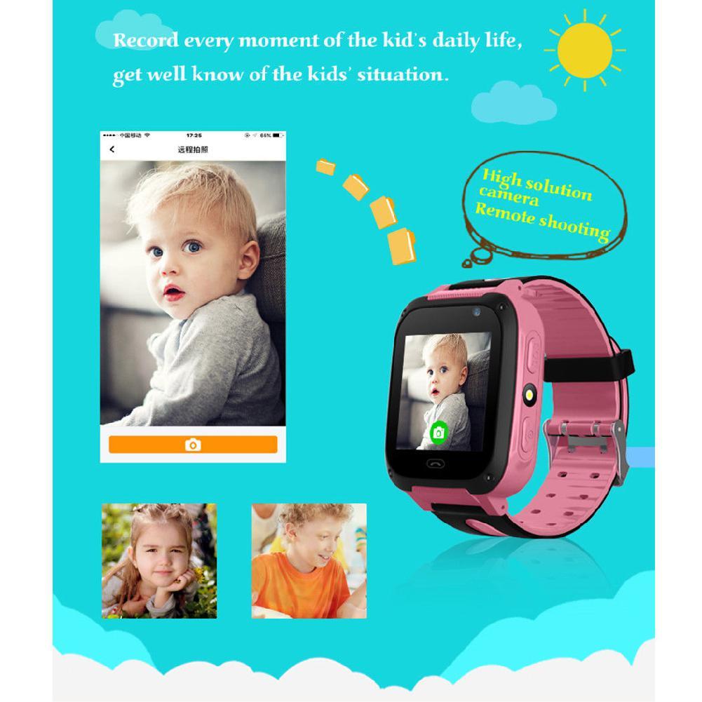 Kuulee Kids Smart Watch Phone GPS Child Smart Watch Waterproof Wifi Antil-lost SIM Location Tracker Smartwatch Voice Call