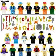 Mini figuras de acción de juguete conjuntos de bloques de construcción, hombre deportivo, bombero, Doctor, enfermera, juegos de boda, figuras, juguetes, bricolaje