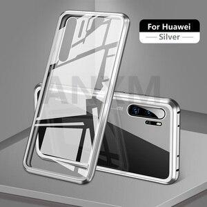 Image 5 - מתכת מגנטי מקרה עבור Huawei P20 P30 פרו Mate 10 20 פרו לייט מזג זכוכית חזרה מגנט מקרי כיסוי עבור כבוד 20 פרו 10i מקרה