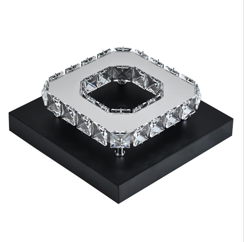 Cristal moderno led luminária de teto para