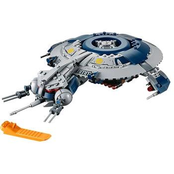 цена на 2020 Star Wars Series Bricks Droid Gunship Compatible Lepining Star Wars 75233 Building Blocks Toys for Children Birthday Gift