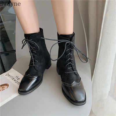 Giày Bốt Martin Nữ Anh Gió Thu Đông 2019 Thời Trang Hàn Quốc Dày Dày Với Ins Lưới Đỏ Stovepipe Giày Hoang Dã Giày