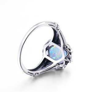 Image 4 - Szjinao Opal Rings 925 Sterling Silver Angel  Witcher Jewelry Accessories Stone Ring Cut Fire Luxury For Women Christmas Gifts