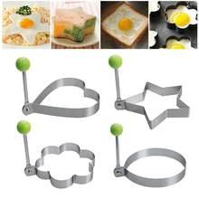 Aço inoxidável frito ovo shaper panqueca molde omelete fritar ovo cozimento ferramentas de cozinha acessórios gadget anéis ferramentas