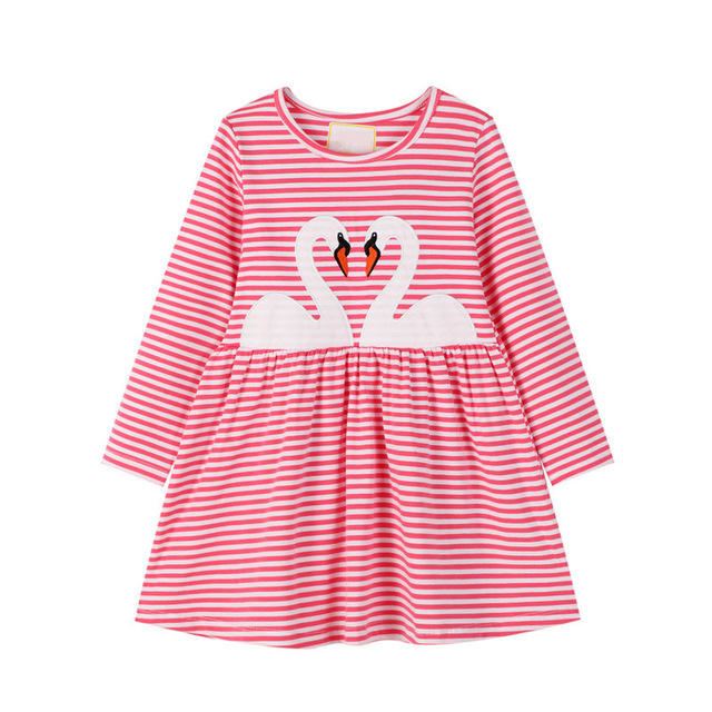 VIDMID Baby Girls Dress Long Sleeve Princess unicorn Dress Children cotton cute Kids Party Dresses Baby Girls Clothes W01 5
