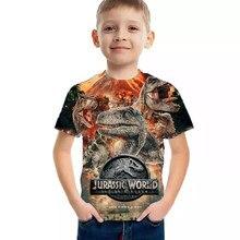 Summer 3D Jurassic Park T Shirt Kids Funny Casual Dinosaur World T-shirt Children Boy Girl Clothes Cool Tshirt Tops Tees