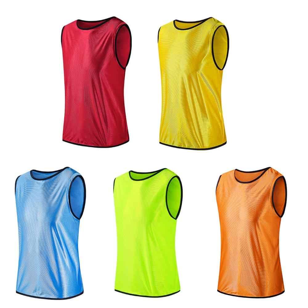 Chaleco de equipo de entrenamiento de fútbol sin mangas camisetas deportivas camisas transpirables para hombres mujeres baloncesto grupo