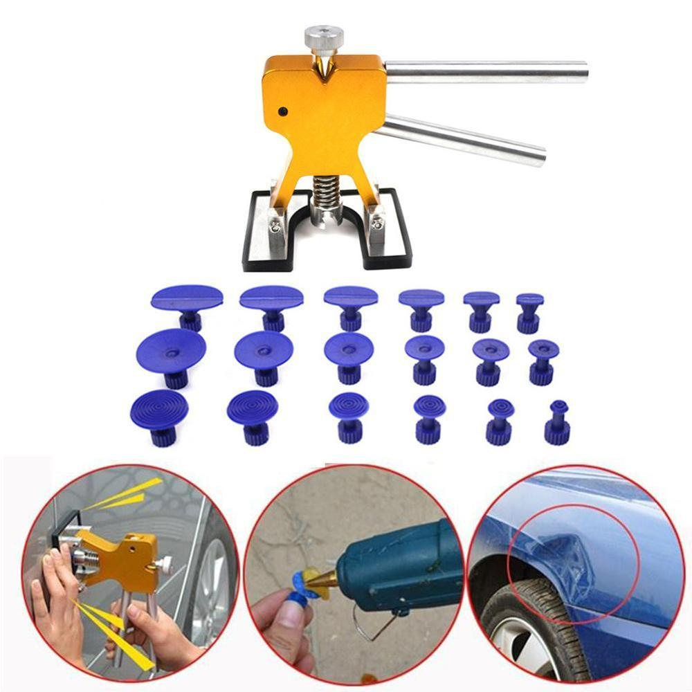 Universal Automotive Paintless Car Body Dent Removal Tool Auto Puller Repair Dent Lifter Tools With 18pcs Tabs Accessories