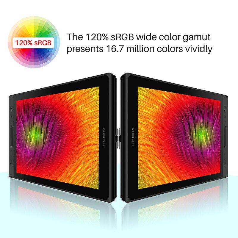 Image 3 - HUION Kamvas Pro 12 świąteczny zestaw prezentowy pióro Tablet Monitor grafika pióro do rysowania Monitor Tilt 60 bez baterii EMRCyfrowe tablety   -
