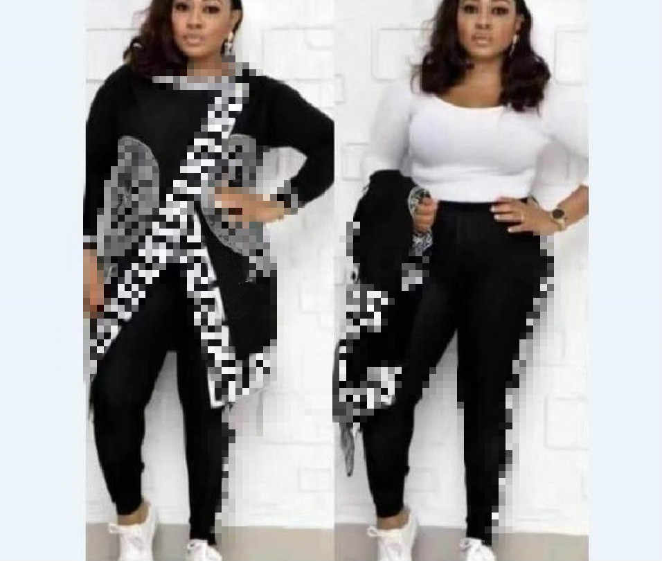 Women's clothing hot selling hooded suit fashion personality plaid two-piece set two piece set sweatsuit