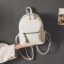 Fashion Teenage Girls Preppy Style Mini Backpack PU Leather Travel Bags Women Backpack Mochila Feminina Black/ Brown/Pink/White