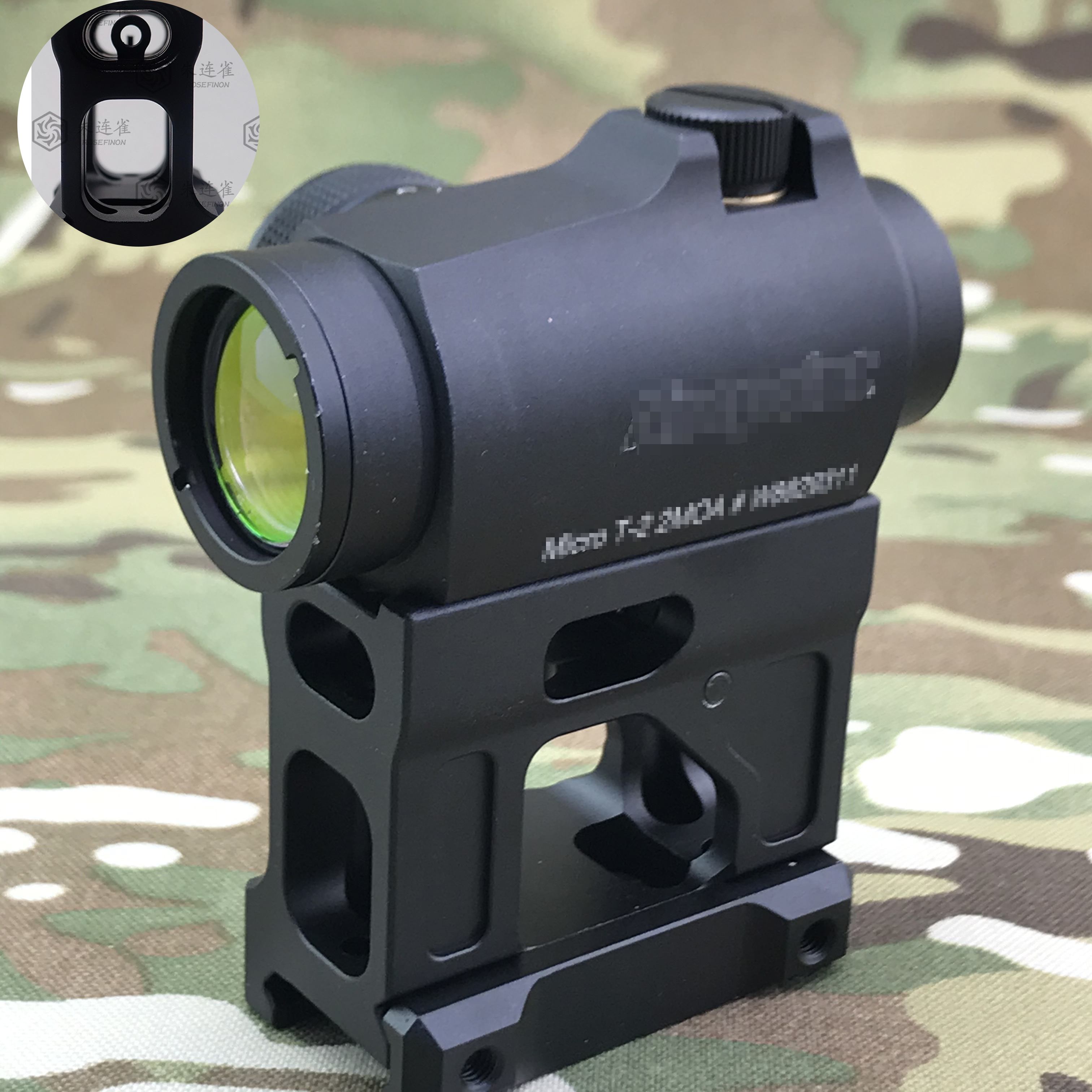 UN universale aumentando staffa red dot sightTARGET F1 Mount per Airsoft T1 / T-1 / T2 / T-2 / TARGET TR02 Red Dot (Nero/Tan)