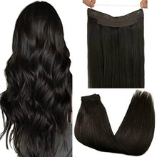 Halo Hair Extensions Invisible Wire Hair Extensions Fish Line Human Hair Extension Extension