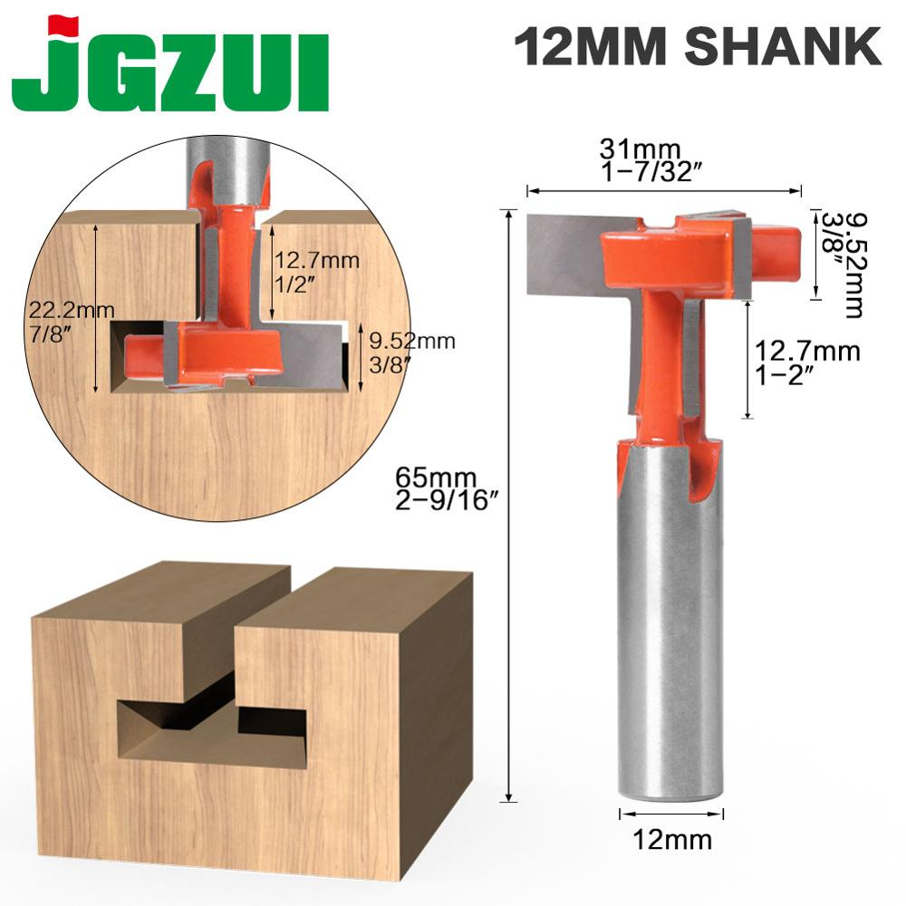 1pcs Top Quality T-Slot & T-Track Slotting Router Bit - 3 Teeth 12mm Shank For Woodworking Chisel Cutter Wholesale Price