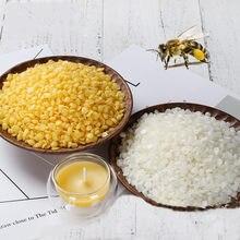 Cera de abeja Natural pura, suministros de velas, 100% de cera de soja sin agregar, lápiz labial, Material artesanal de vela, 1Kg, 500g