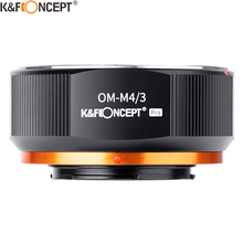K&F CONCEPT OM-M43 Olympus OM Lens to M43 MFT Mount Camera Adapter Ring for OM Lens to Micro 4/3 Panasonic Camera