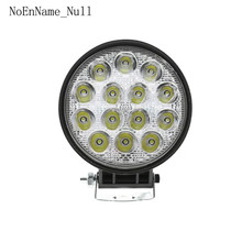 Car Truck 42W 6000K 12V 24V Round LED Work Spot Light Flood Bulb Driving Lamp цена
