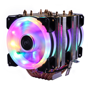 6 Heat Pipes RGB CPU Cooler X79 X99 Motherboard 90mm 3Pin PWM 4Pin quiet for Intel LGA 1150 1151 1155 1366 2011 AMD AM2 AM3 AM4(China)