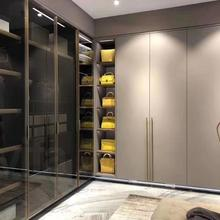 Прогулочный шкаф Китай деревянный гардероб современный шкаф открытая спальня гардеробная прогулочная комната по индивидуальному заказу