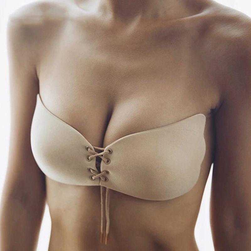 Sexy Underwear Breast Lift Enhancement Bra For Women Invisible Silicone Strapless Ultra-thin Backless Bra
