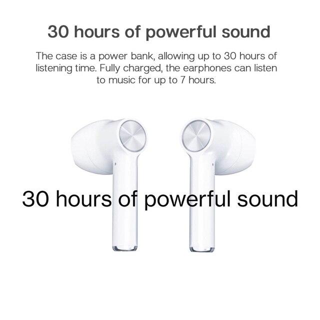 אוזניות בלוטוס עם מיקרופון ביטול רעשים וקופסת טעינה 6