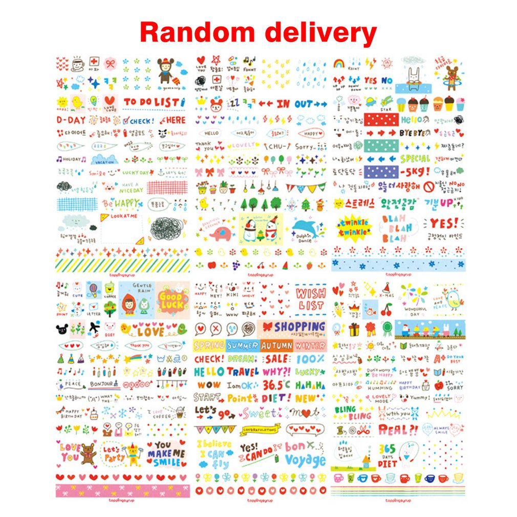 DIY Diary Sticker Scrapbook Decoration PVC Stationery DIY Stickers for Smartphones School Office Supplies