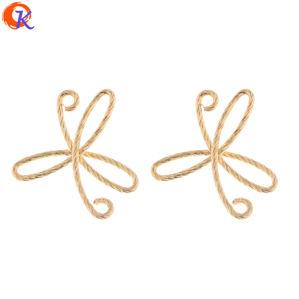 Cordial Design 30Pcs 22*26MM Jewelry Accessories/Earrings Connectors/Hand Made/Genuine Gold Plating/DIY Making/Earring Findings