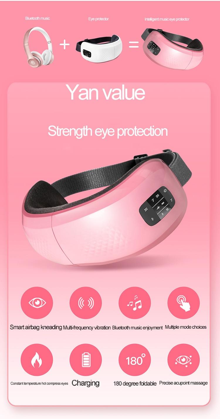 Electirc inteligente olho massageador anti rugas olhos