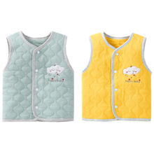 Vest Waistcoat Girl Baby Spring Boy Autumn QUILTED Comfortable Thickening Soft Winter