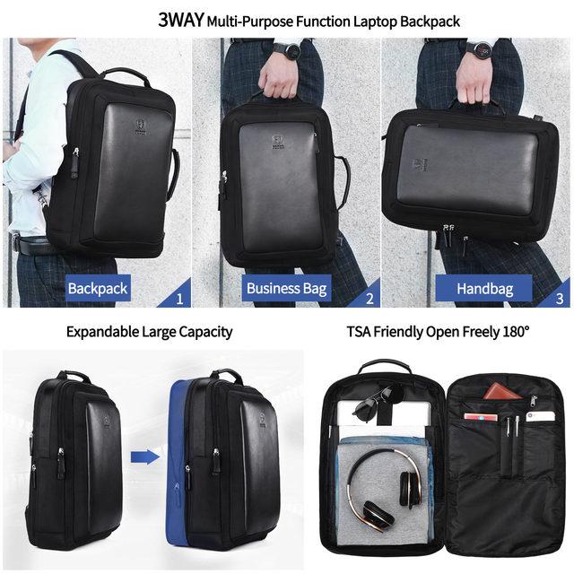 Men Backpack Multi-Purpose Function Laptop Backpacks school bags Computer back pack Business Large Capacity shoulder bag FEGER