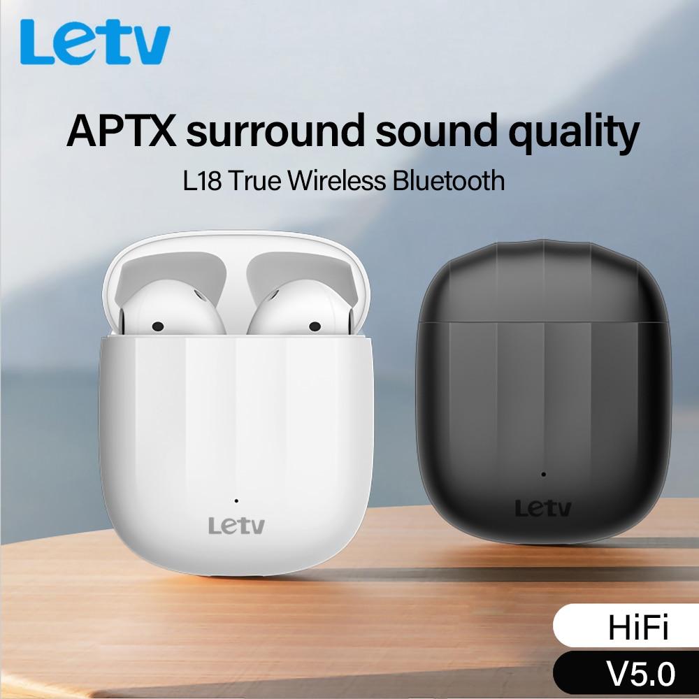 Letv L18 Ture cuffie Wireless Tws Bluetooth 5.0 cuffie funzionamento Touch auricolare Wireless a ricarica rapida con microfono HiFi Sound