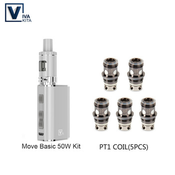 Vaptio Move Basic Vape kit 50w VAPE Kit 2ML Atomizer 50W Box Mod Built in 1100mAh Battery Mod 510 thread Tank цена 2017