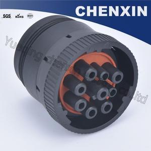 Image 2 - Czarny 9 pin uszczelniony wodoodporny automatyczne złącza wtyczka 1.6 kobiet akcesoria samochodowe połączenie przewodowe przejściówka adapter HD16 9 1939S