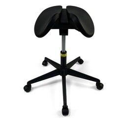 Anatomiczny Split-siedzenia stołek na siodło/Dental konturowania z pianki PU siedzenia/do tyłu do przodu Tilt  regulowana wysokość 50-70cm