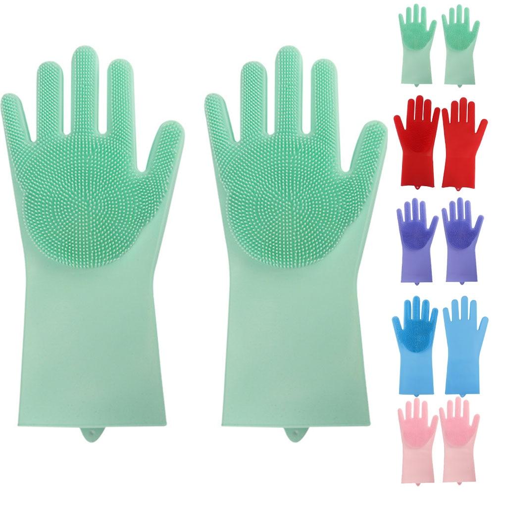 1 пара перчаток для мытья посуды, резиновые перчатки для мытья посуды, щетка для мытья посуды, уборка кухни, креативные силиконовые перчатки для мытья посуды в ванной|Чистящие щетки|   | АлиЭкспресс