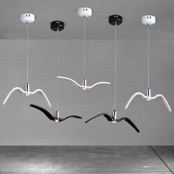 Ptak mewa lampa wisząca do kuchni jadalnia sypialnia mewa oświetlenie żywica pokój dziecięcy Spotlight żyrandol