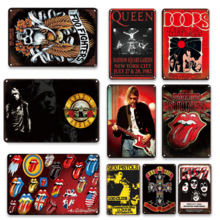 Vintage Pop Music Poster Metal Plates Sweet Home Wall Decorative Plaques Personalized Souvenir Gifts Bedroom Wall Decor Signs